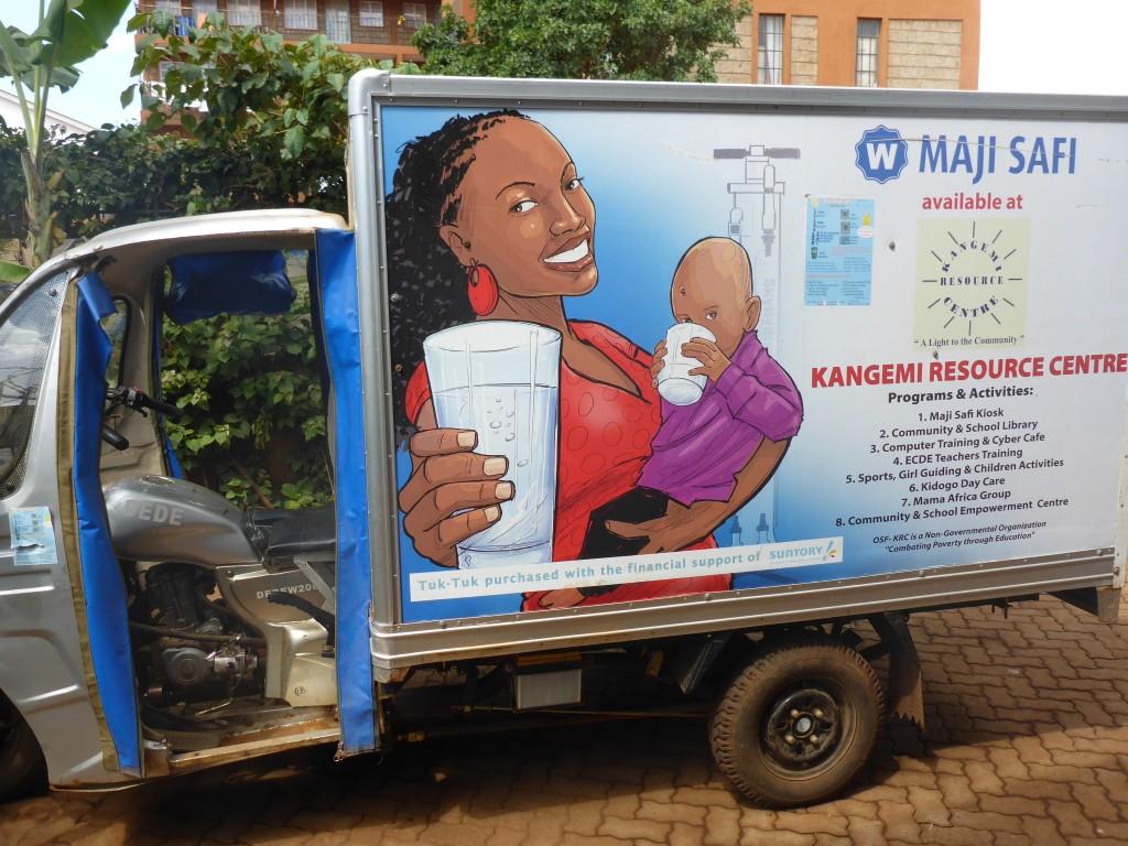 Le tuk-tuk (dédié à la distribution d'eau)