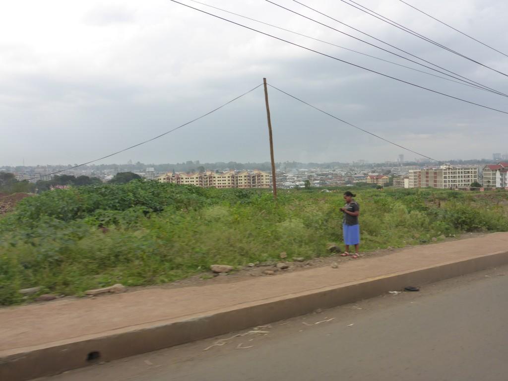 Vu sur l'un des bidon-villes les plus connus de Nairobi : Kibera